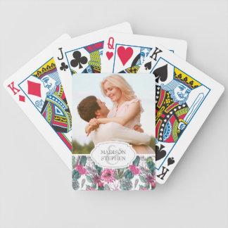 Jeu De Cartes Succulent et floral de Bohème - photo de mariage