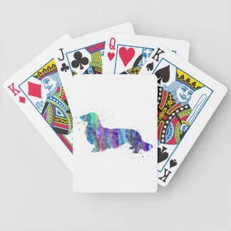 Jeu De Cartes Teckel, copie d'aquarelle de chien de teckel,