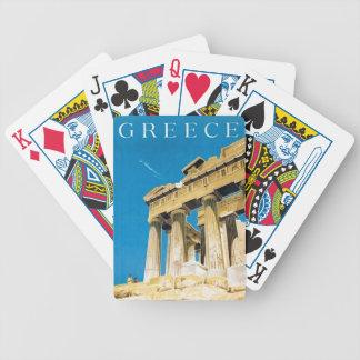Jeu De Cartes Temple vintage de parthenon d'Athènes Grèce de