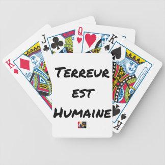 Jeu De Cartes TERREUR EST HUMAINE - Jeux de mots- Francois Ville