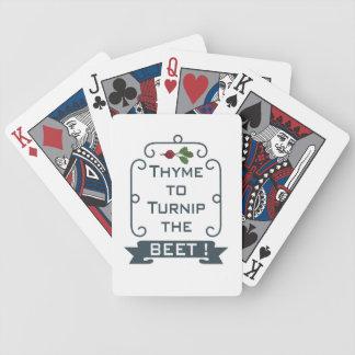 Jeu De Cartes Thym au navet les cartes de la betterave |