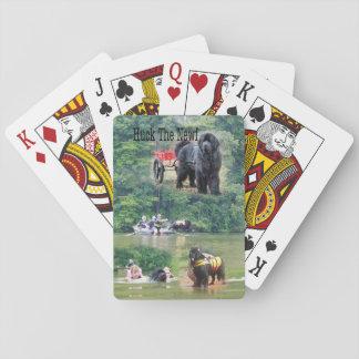 Jeu De Cartes Toile à grain d'orge les cartes de jeu de Newf