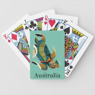 Jeu De Cartes Tortue de mer australienne gaie