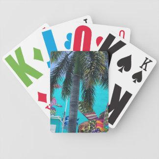 Jeu De Cartes Tortue tropicale, paradis de palmier
