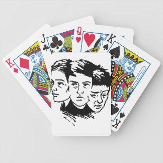 Jeu De Cartes trois visages