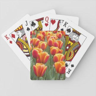 Jeu De Cartes Tulipes oranges florales
