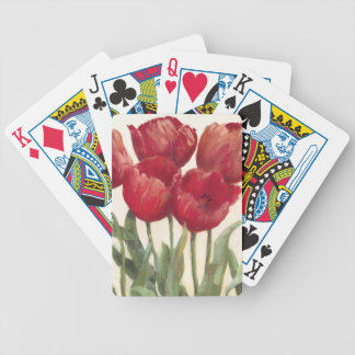 Jeu De Cartes Tulipes rouges