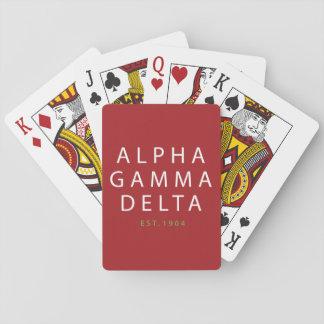 Jeu De Cartes Type moderne d'alpha delta gamma
