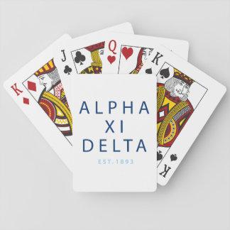 Jeu De Cartes Type moderne de delta de l'alpha XI