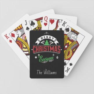 Jeu De Cartes Typographie de Noël/Joyeux Noël chacun