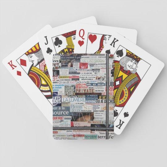 Jeu de cartes typographie, jeux de mots