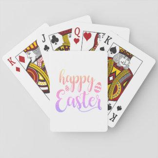 Jeu De Cartes Typographie multicolore heureuse d'oeuf de Pâques