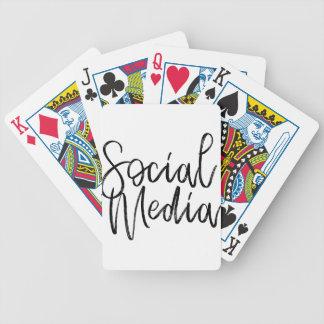 Jeu De Cartes Typographie sociale d'amants de médias