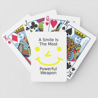 Jeu De Cartes Un sourire est l'arme la plus puissante (le visage