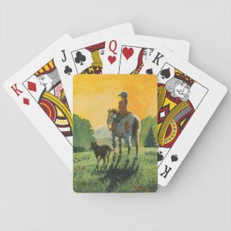 Jeu De Cartes Une fille et ses cartes de jeu de cheval
