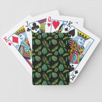 Jeu De Cartes Unique original de vert de cool de forêt de paume