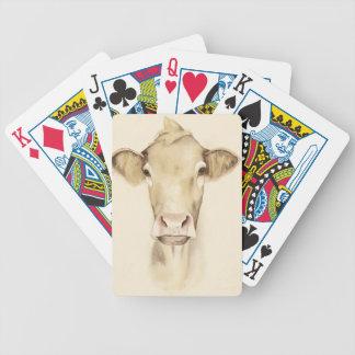 Jeu De Cartes Vache aux animaux | de grange d'aquarelle