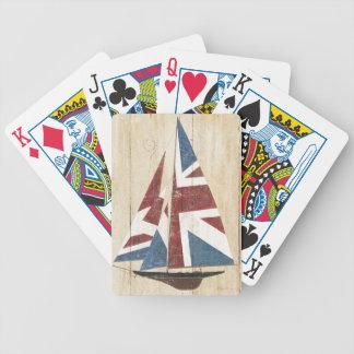 Jeu De Cartes Voilier britannique de drapeau