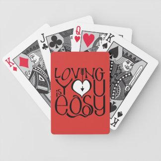 Jeu De Cartes Vous aimant cartes de jeu blanches rouges de