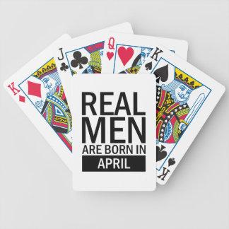 Jeu De Cartes Vrais hommes avril