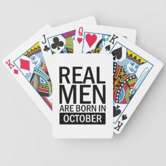 Jeu De Cartes Vrais hommes octobre
