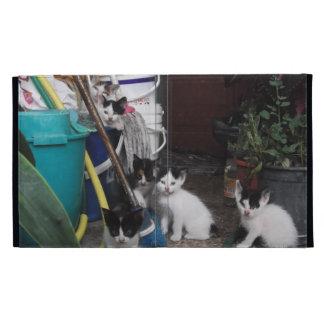 Jeu de chatons étuis iPad folio