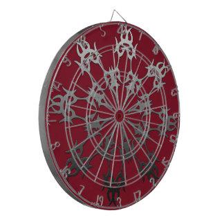 Jeu De Fléchettes Abrégé sur ethnique brique noire rouge argentée
