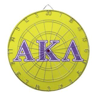 Jeu De Fléchettes Alpha Kappa lettres pourpres et jaunes de lambda