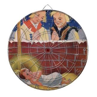 Jeu De Fléchettes Art de Noël polonais de Wesołyeh Świąt de cru