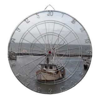 Jeu De Fléchettes Charte d'océan de bateau de pêche