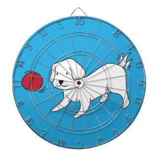 Jeu De Fléchettes Chien jouant avec une boule