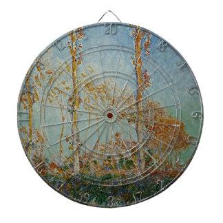 Jeu De Fléchettes Claude Monet - l'illustration de peupliers
