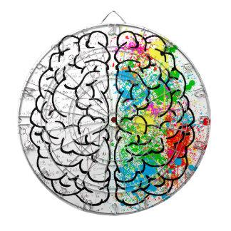 Jeu De Fléchettes coeurs d'idée de psychologie d'esprit de cerveau