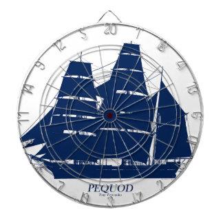 Jeu De Fléchettes conception bleue de bateau de pequod