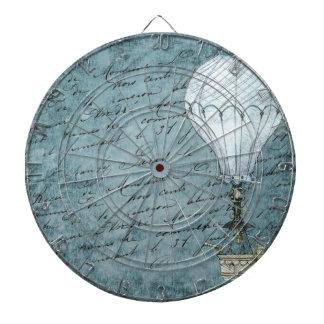 Jeu De Fléchettes Écriture chaude bleue de Steampunk de ballon à air