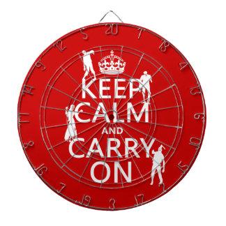 Jeu De Fléchettes Gardez le calme et continuez (zombis) (toute