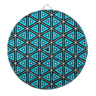Jeu De Fléchettes Jolis blanc, noir et motif carrés de turquoise