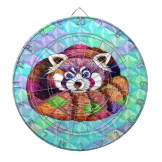 Jeu De Fléchettes Le panda rouge concernent le cubisme de turquoise