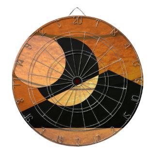 Jeu De Fléchettes Lueur de planètes, noir et cuivre, conception