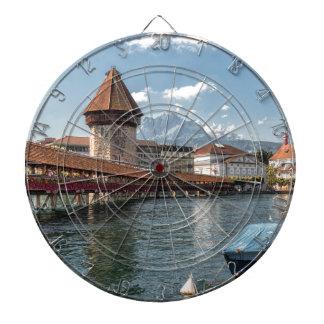 Jeu De Fléchettes Luzerne de pont de chapelle, Suisse
