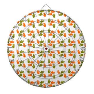 Jeu De Fléchettes Main Pattern green orange