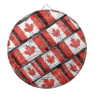 Jeu De Fléchettes Motif canadien de motif de drapeau