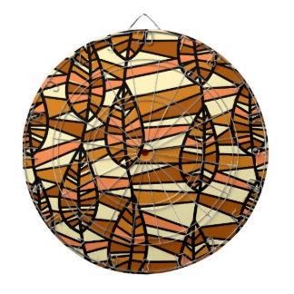 Jeu De Fléchettes Motif orange de feuille d'automne de Brown