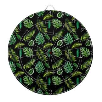 Jeu De Fléchettes Motif tropical Tiki floral fait main de feuille