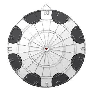 Jeu De Fléchettes Points gris-foncé Checkered