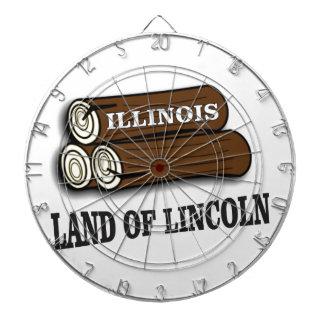 Jeu De Fléchettes Rondins de l'Illinois de Lincoln