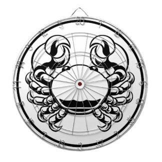 Jeu De Fléchettes Signe d'horoscope de zodiaque de Cancer de crabe