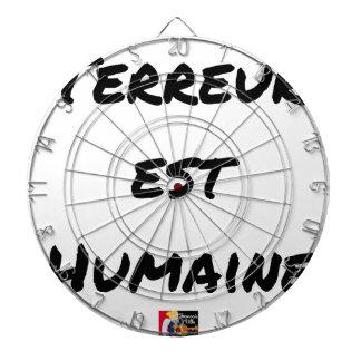 Jeu De Fléchettes TERREUR EST HUMAINE - Jeux de mots- Francois Ville