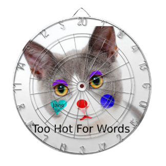 """Jeu De Fléchettes """"Trop chaud chat pour mots"""" avec le maquillage de"""