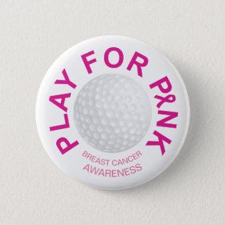 Jeu de golf pour le bouton de conscience de cancer pin's